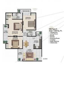 Gallery Cover Image of 1350 Sq.ft 3 BHK Apartment for buy in Panchsheel Greens, Noida Extension for 5399000