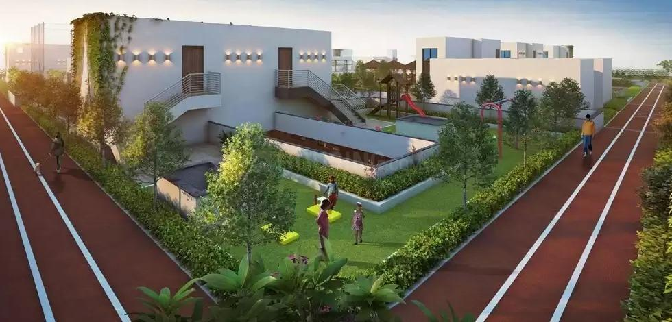 Garden Area Image of 898 Sq.ft 3 BHK Apartment for buy in Chinar Park for 2783800