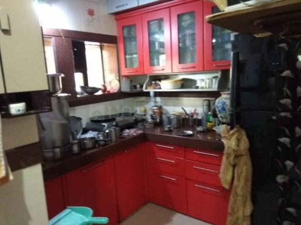 Kitchen Image of 500 Sq.ft 1 BHK Apartment for rent in Airoli for 18500
