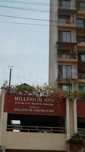 Gallery Cover Image of 1207 Sq.ft 2 BHK Apartment for rent in Millenium Icon, Kharghar for 26000