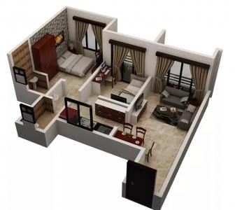 Gallery Cover Image of 750 Sq.ft 1 BHK Apartment for buy in Virar West for 3500000