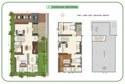 Gallery Cover Image of 2802 Sq.ft 3 BHK Villa for buy in Ramky Discovery City, Malikdanguda for 18500000
