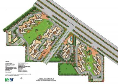 Gallery Cover Image of 1336 Sq.ft 2 BHK Apartment for buy in M3M Woodshire, Sector 107 for 7200000