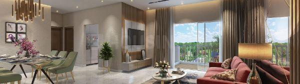 Living Room Image of 906 Sq.ft 3 BHK Apartment for buy in Dombivli East for 8300000