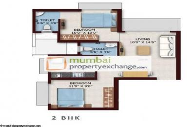 Gallery Cover Image of 1090 Sq.ft 2 BHK Apartment for buy in Chandak Nishchay Wing D, Dahisar East for 13500000