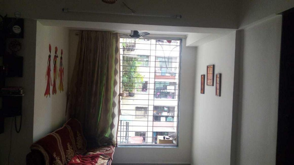 Living Room Image of 650 Sq.ft 1 BHK Apartment for rent in Kamothe for 10500