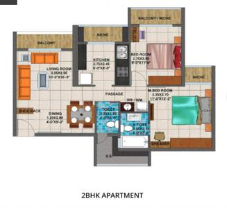 Gallery Cover Image of 1205 Sq.ft 2 BHK Apartment for buy in Arihant, New Panvel East for 7200000