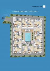 वंशिका स्वेवेन, कोननकुंते  में 7600000  खरीदें  के लिए 1340 Sq.ft 3 BHK अपार्टमेंट के फ्लोर प्लान  की तस्वीर