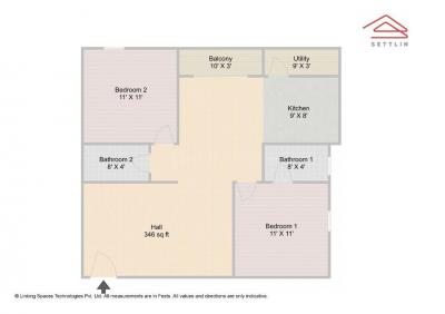 Gallery Cover Image of 1040 Sq.ft 2 BHK Apartment for buy in BTM Layout for 4900000
