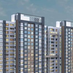 Gallery Cover Image of 1900 Sq.ft 3 BHK Apartment for buy in Wadhwa TW Gardens, Kandivali East for 29500000