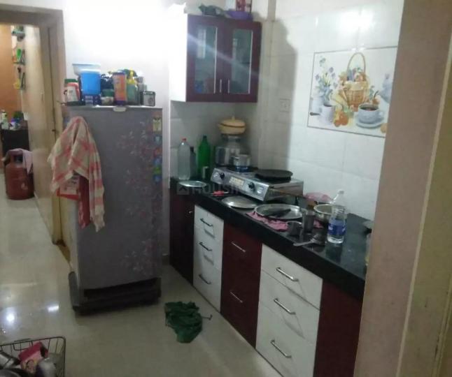 Kitchen Image of 621 Sq.ft 1 BHK Apartment for rent in Wonder Bharati Vihar, Dhankawadi for 9000