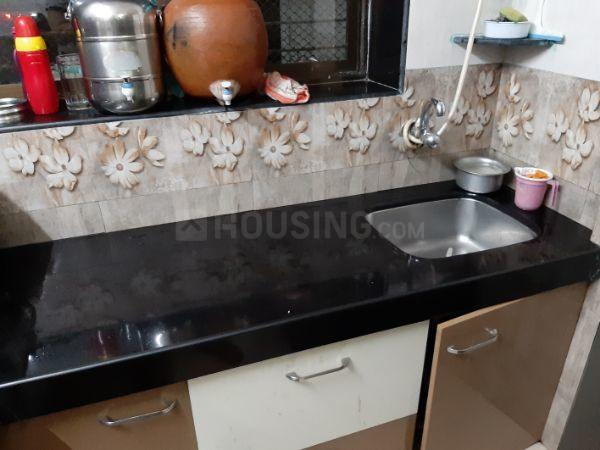 Kitchen Image of 630 Sq.ft 1 BHK Apartment for rent in Turbhe for 25000