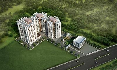 Gallery Cover Image of 1050 Sq.ft 2 BHK Apartment for buy in Golecha Ethos, Tathawade for 7450000