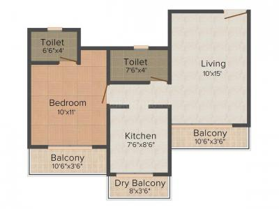 Gallery Cover Image of 740 Sq.ft 1 BHK Apartment for buy in Mira Road West for 4895000