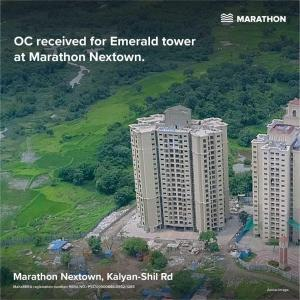 Gallery Cover Image of 675 Sq.ft 1 BHK Apartment for buy in Marathon Nextown Emerald, Padle Gaon for 3400000