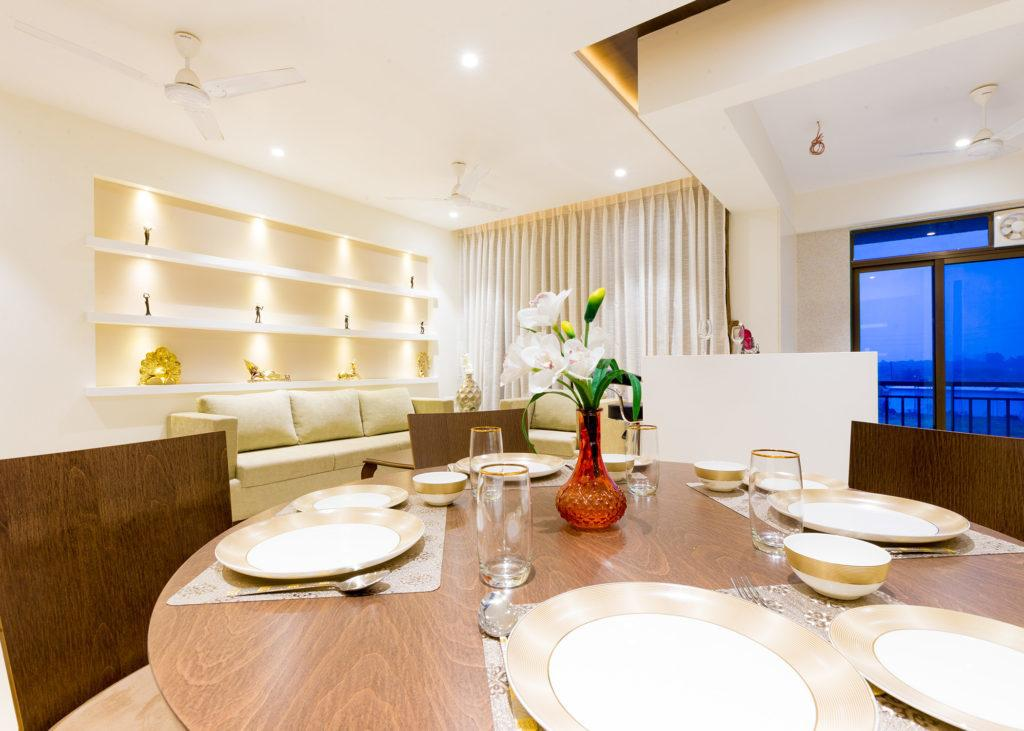 Dining Area Image of 1640 Sq.ft 3 BHK Apartment for buy in Dronagiri for 9200000