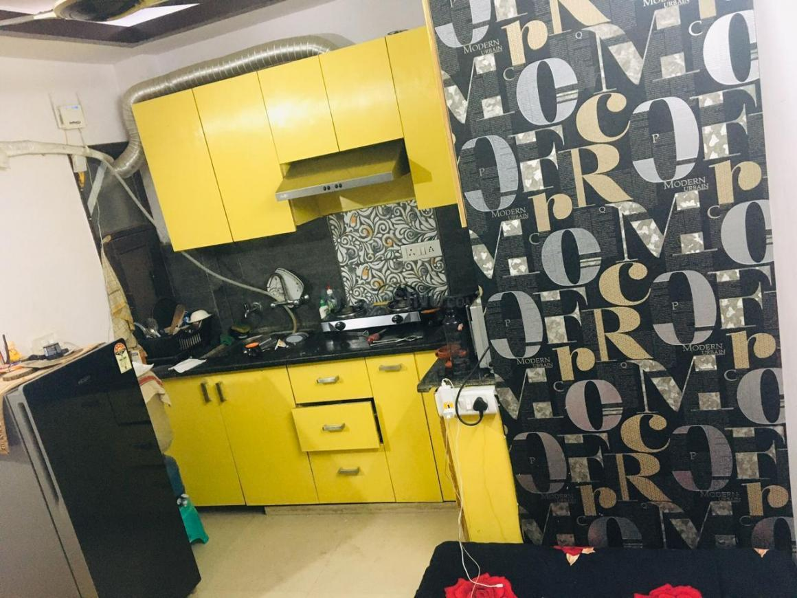 Kitchen Image of 430 Sq.ft 1 BHK Independent Floor for rent in Mahavir Enclave for 15000