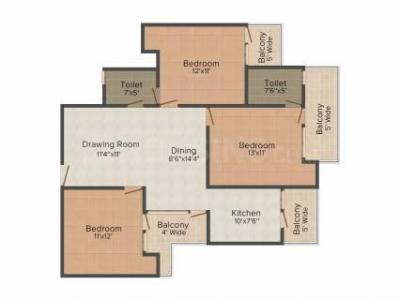 Gallery Cover Image of 1990 Sq.ft 3 BHK Independent Floor for buy in Uninav Bliss, Raj Nagar Extension for 9000000