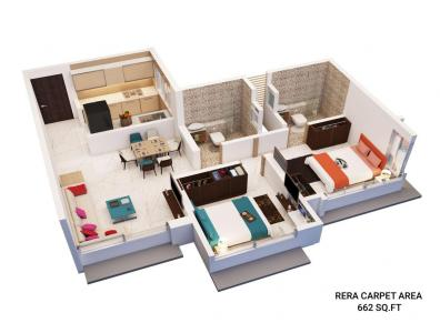 Gallery Cover Image of 855 Sq.ft 2 BHK Apartment for buy in Mazgaon for 22200000