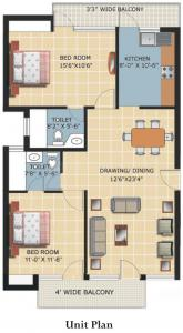Gallery Cover Image of 650 Sq.ft 2 BHK Apartment for buy in Nalasopara West for 1156000