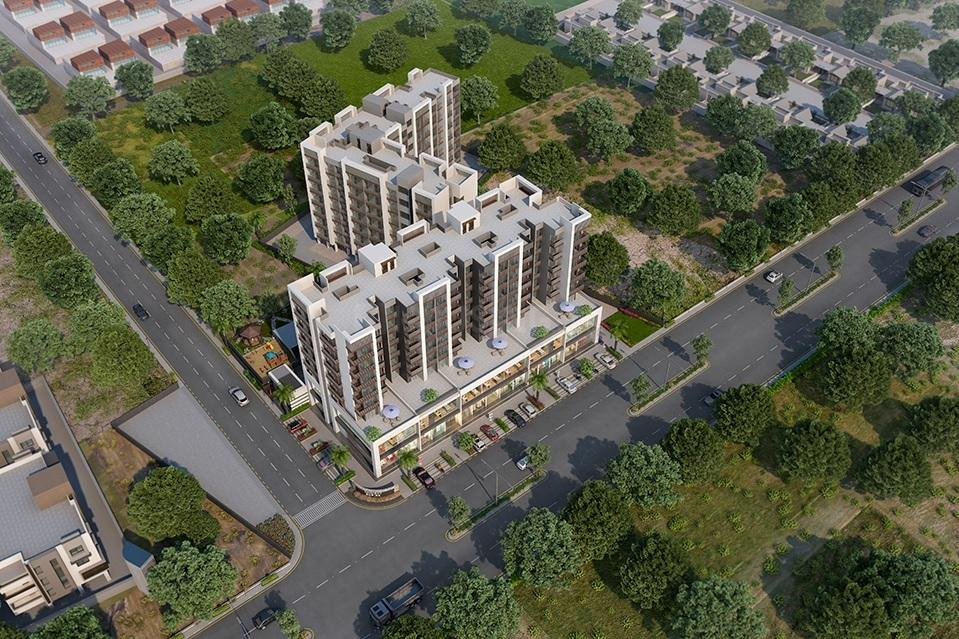 Building Image of 919 Sq.ft 2 BHK Apartment for buy in Yashwant Nagar for 4580000