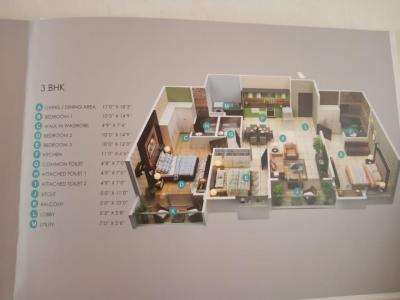 Gallery Cover Image of 1236 Sq.ft 2 BHK Apartment for buy in Vizipa Optima, Doddakannelli for 5562000