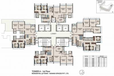 Gallery Cover Image of 709 Sq.ft 1 BHK Apartment for buy in Powai for 15000000