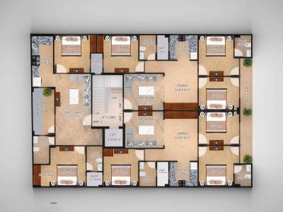 एसएसजी यश अपार्टमेंट 3, सेक्टर 905  में 2  खरीदें  के लिए 905 Sq.ft 2 BHK इंडिपेंडेंट फ्लोर  के फ्लोर प्लान  की तस्वीर