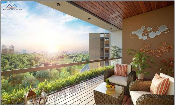 Balcony Image of 1314 Sq.ft 2 BHK Apartment for buy in MBA Om Sky, Science City for 7209500