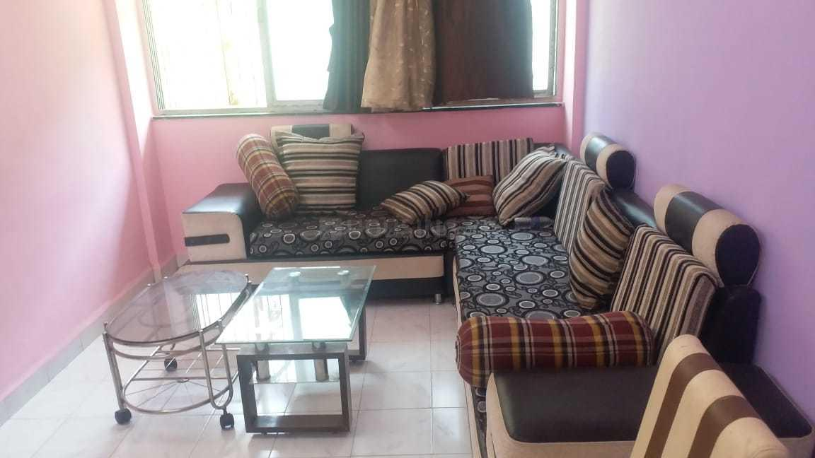 Living Room Image of 650 Sq.ft 1 BHK Apartment for rent in Airoli for 23000