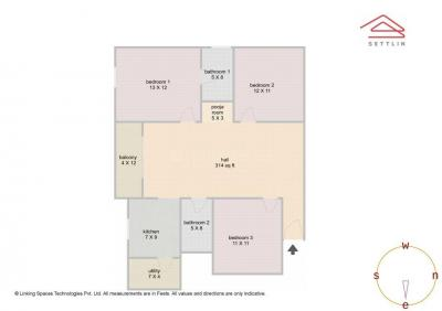 Gallery Cover Image of 1400 Sq.ft 3 BHK Apartment for buy in Arakere for 8700000