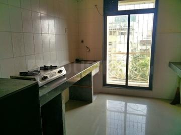 Kitchen Image of 450 Sq.ft 1 RK Apartment for rent in Airoli for 10000