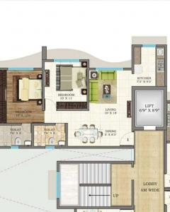 Gallery Cover Image of 1025 Sq.ft 2 BHK Apartment for rent in Vijaylaxmi Bliss, Jogeshwari East for 37000