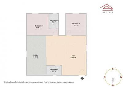 Gallery Cover Image of 1033 Sq.ft 2 BHK Apartment for buy in Unique Eastern Breeze, Mahadevapura for 7300000