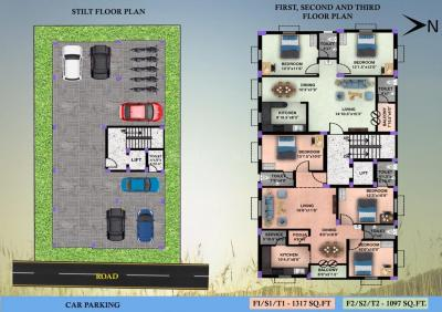 Gallery Cover Image of 1317 Sq.ft 3 BHK Apartment for buy in M C Sastha Hiranya Flat, Keelakattalai for 8692000