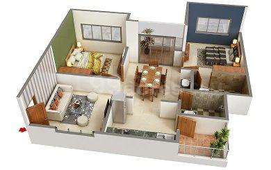 Gallery Cover Image of 660 Sq.ft 1 BHK Apartment for buy in Sai Park, Ambegaon Pathar for 2325000