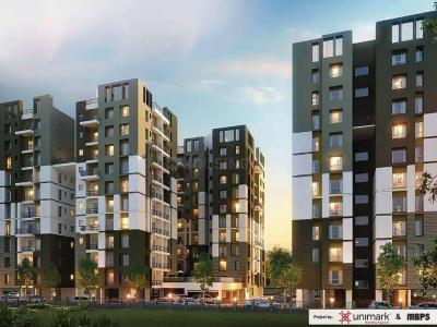 Gallery Cover Image of 1160 Sq.ft 3 BHK Apartment for buy in Unimark Springfield, Rajarhat for 4800000