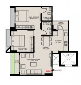 Gallery Cover Image of 1150 Sq.ft 2 BHK Apartment for buy in Shela for 3950000