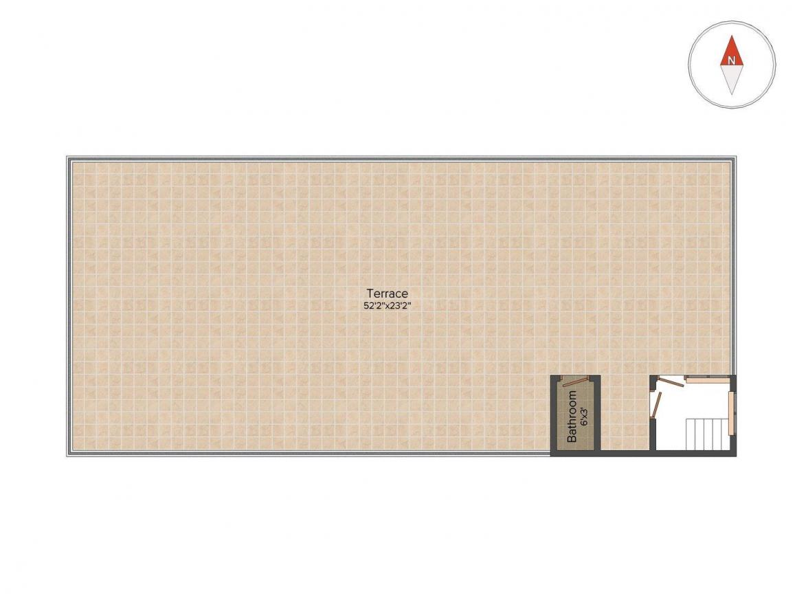 Floor Plan Image of 1000 Sq.ft 2 BHK Independent House for buy in Sector 51 for 4600000
