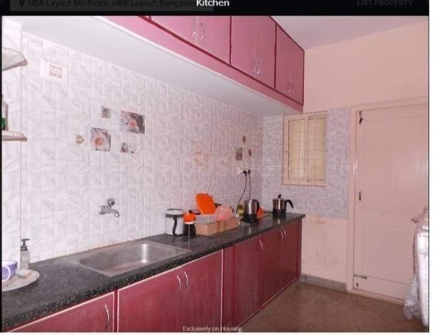 Kitchen Image of Syaranya Luxury PG in HBR Layout