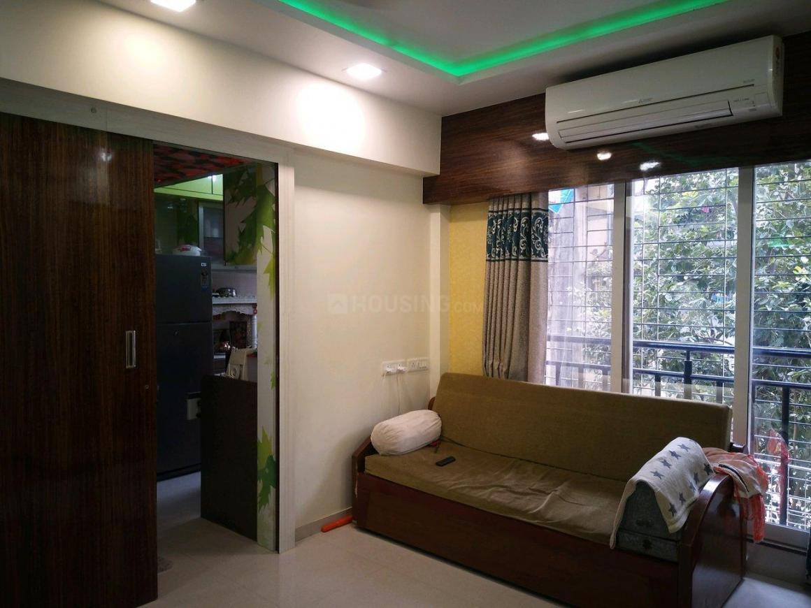 Living Room Image of 580 Sq.ft 1 BHK Apartment for rent in Andheri East for 40000