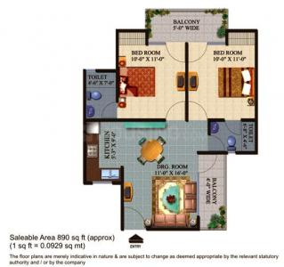 Gallery Cover Image of 890 Sq.ft 2 BHK Apartment for buy in Star Realcon Group Rameshwaram, Raj Nagar Extension for 2850000