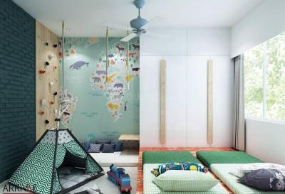 Gallery Cover Image of 600 Sq.ft 1 BHK Apartment for buy in N G Vihar, Thane West for 4999000