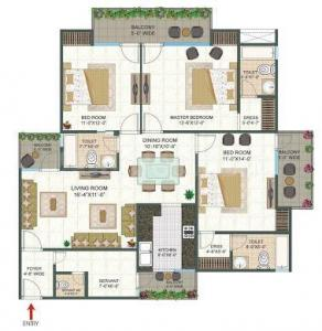 Gallery Cover Image of 1170 Sq.ft 2 BHK Apartment for buy in ATS Floral Pathways, Wave City for 6300000