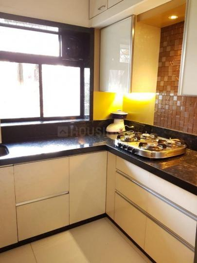 Kitchen Image of 612 Sq.ft 1 BHK Apartment for rent in Worli for 70000