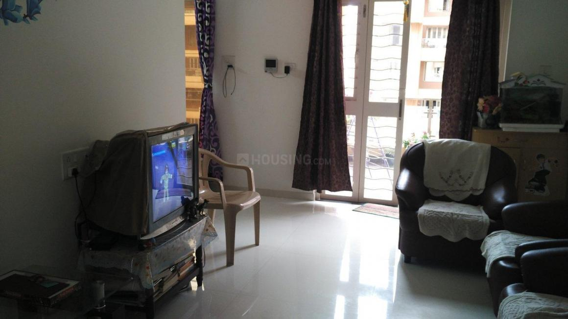 Living Room Image of 700 Sq.ft 1 BHK Apartment for rent in Wakad for 16500