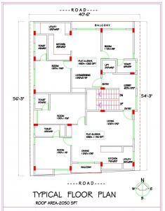 Floor Plan Image of 1100 Sq.ft 2 BHK Apartment for buy in Yeshwanthpur for 8500000
