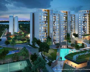 Gallery Cover Image of 1200 Sq.ft 2 BHK Apartment for buy in Shriram Blue, Krishnarajapura for 8100000