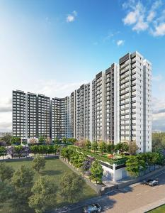 Gallery Cover Image of 1082 Sq.ft 3 BHK Apartment for buy in Kalpataru Riverside, Panvel for 10000000