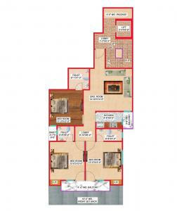 Gallery Cover Image of 1350 Sq.ft 3 BHK Apartment for buy in Rithala for 9000000